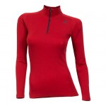 Aclima Mock Neck with Zip Tango Red Women